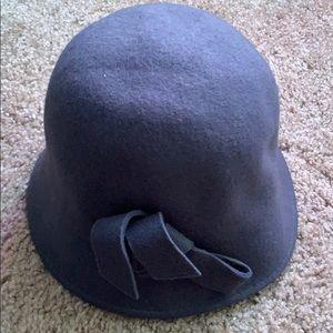 Nordstrom grey bow hat